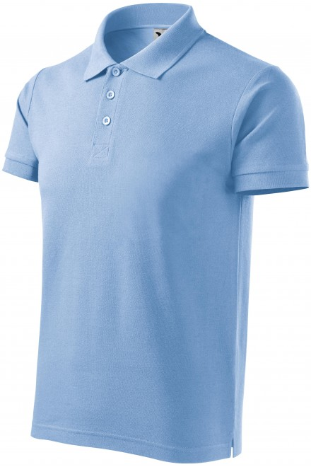 Men's heavier polo shirt Sky blue