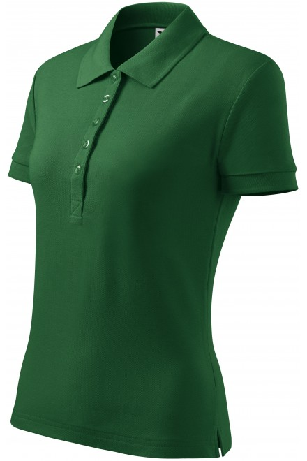 Ladies polo shirt Bottle green