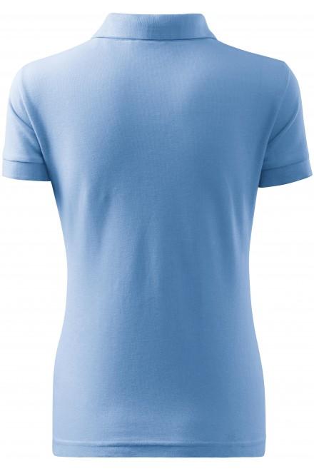 Sky blue ladies polo shirt