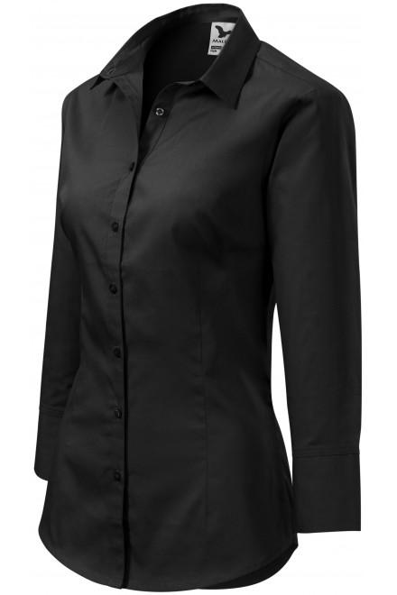 Ladies blouse with long sleeves Black