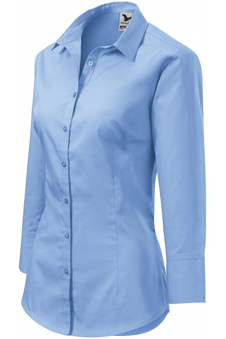 Ladies blouse with long sleeves Sky blue