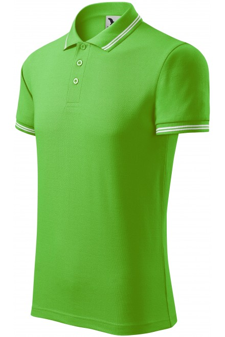 Men's contrast polo shirt Apple green
