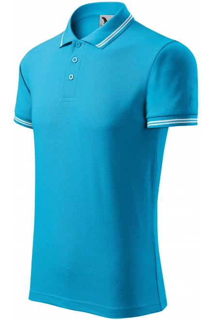 Men's contrast polo shirt Bblue atol