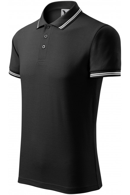 Men's contrast polo shirt Black