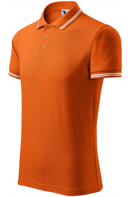 Men's contrast polo shirt Orange