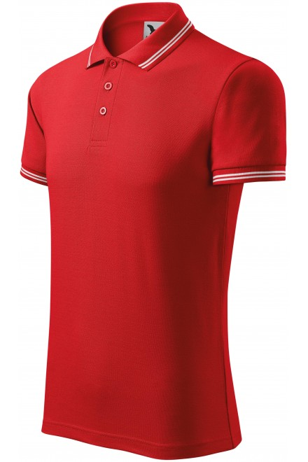 Men's contrast polo shirt Red