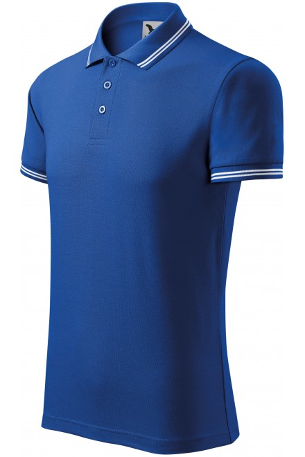 Men's contrast polo shirt Royal blue