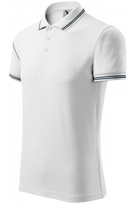 Men's contrast polo shirt White