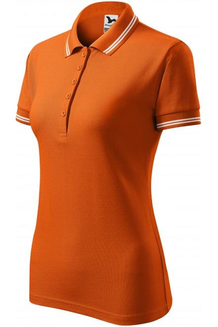 Ladies contrast polo shirt Orange
