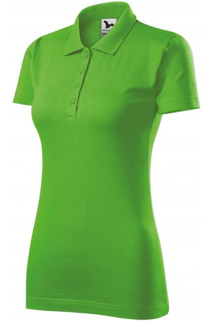Ladies slim fit polo shirt Apple green