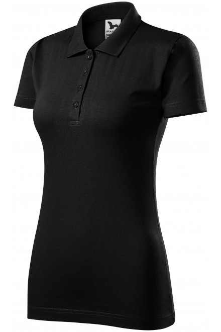 Ladies slim fit polo shirt Black