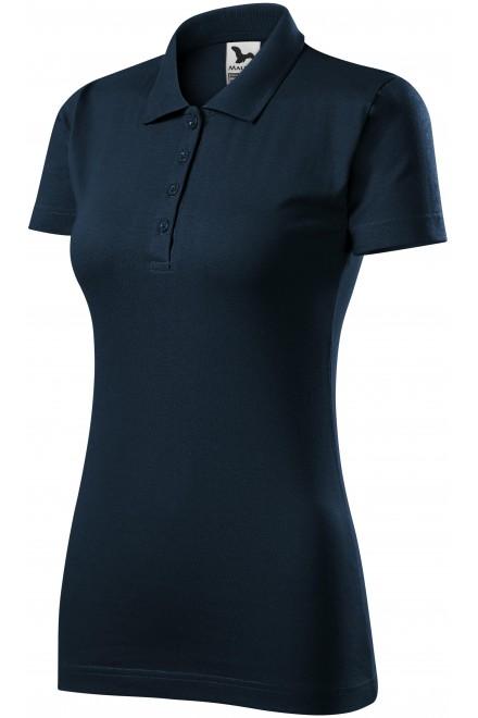 Ladies slim fit polo shirt Navy blue