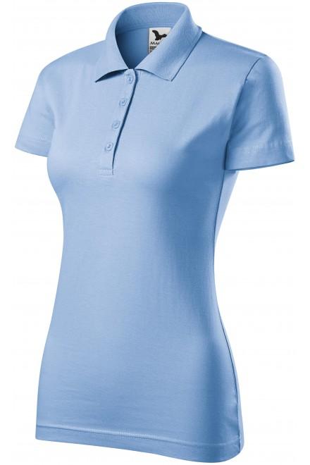 Ladies slim fit polo shirt Sky blue
