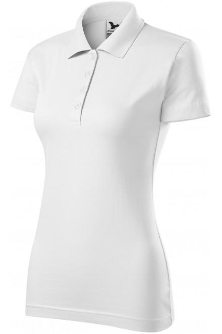 Ladies slim fit polo shirt White