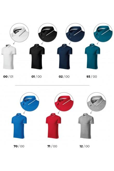 Black men's contrasting polo shirt