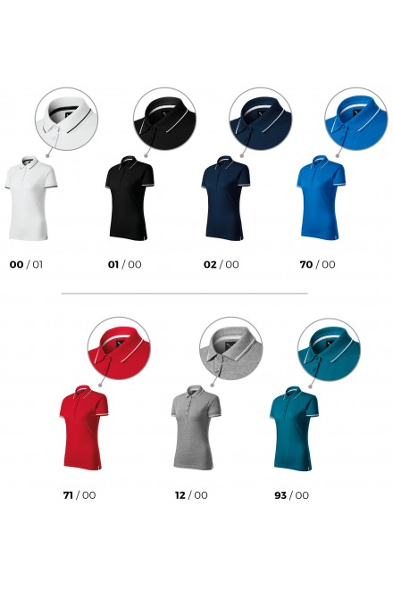 Ladies polo shirt with short sleeves