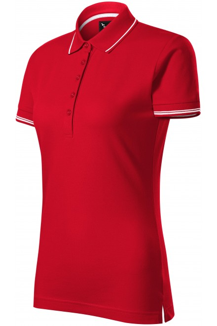 Ladies polo shirt with short sleeves White