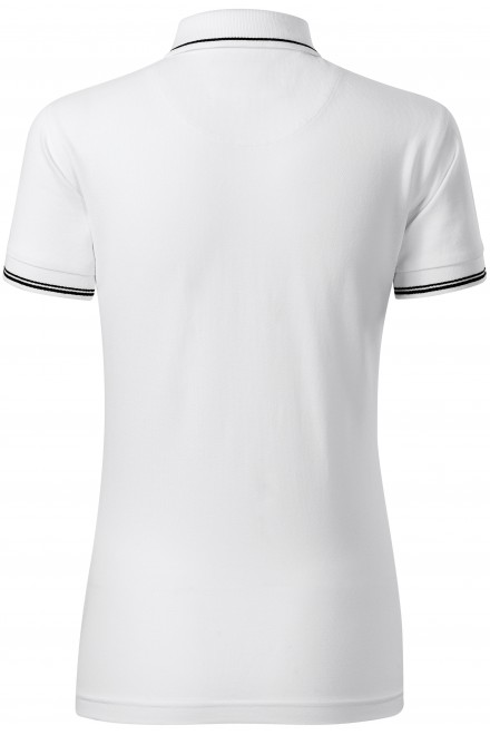 White ladies polo shirt with short sleeves