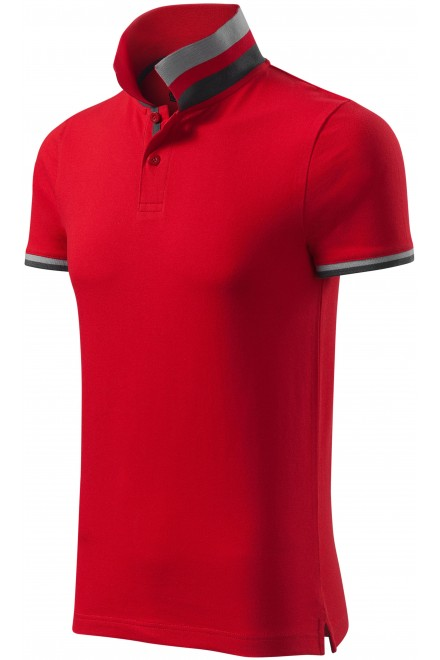 Men's polo shirt with collar top White