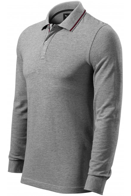 Men's contrasting long sleeves White