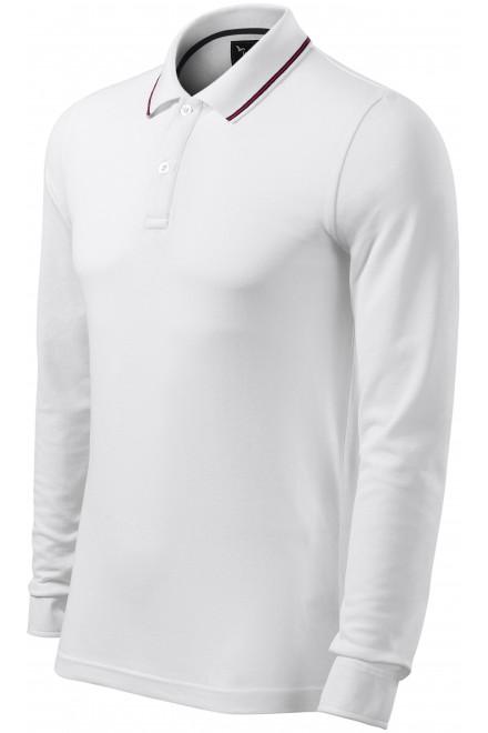 Men's contrasting long sleeves White