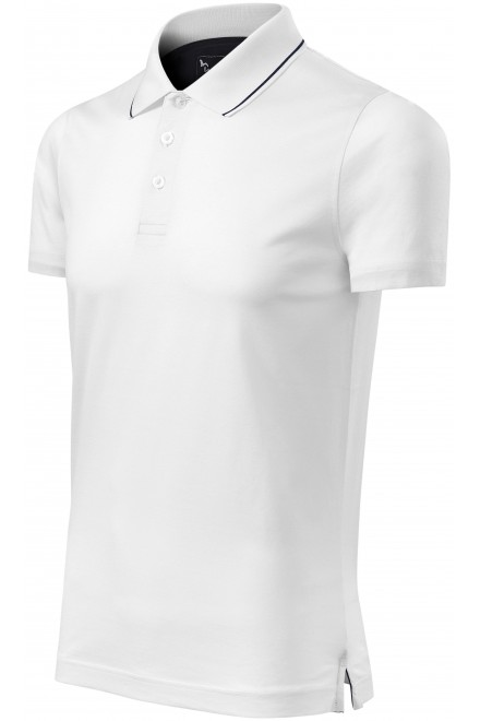 Men's elegant mercerized polo shirt White