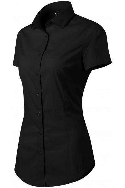 Ladies blouse Slim fit Black
