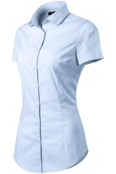 Ladies blouse Slim fit Light blue