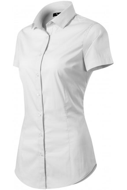 Ladies blouse Slim fit White