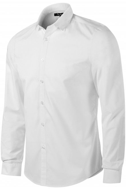 Men's shirt with long sleeves Slim fit White