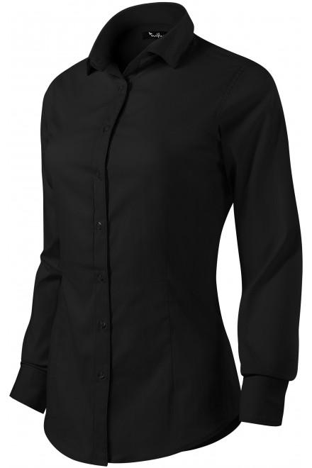 Ladies long sleeve blouse Slim fit Black