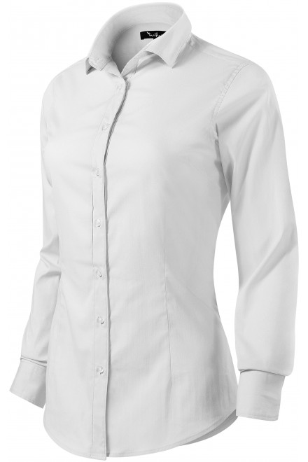 Ladies long sleeve blouse Slim fit White