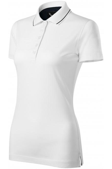 Ladies elegant mercerised polo shirt White