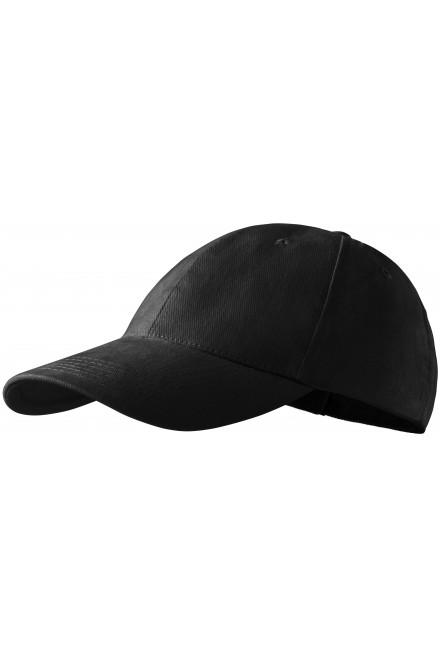 6-panel cap Black