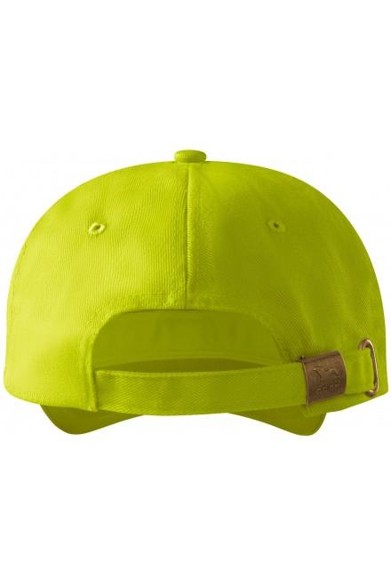 Lime green 6-panel cap