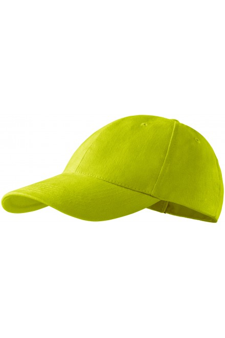 6-panel cap Lime green