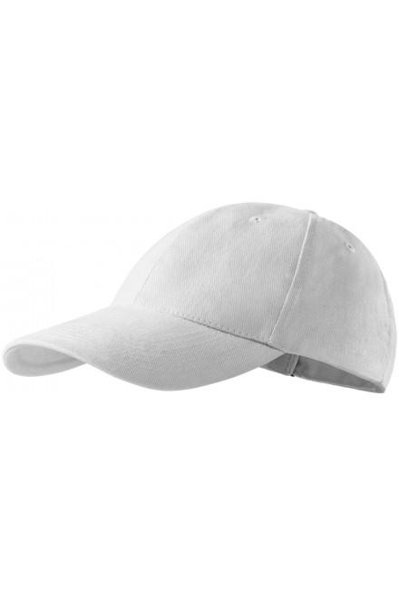 6-panel cap White