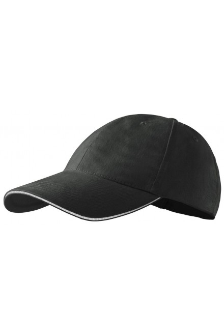 Contrasting cap Black