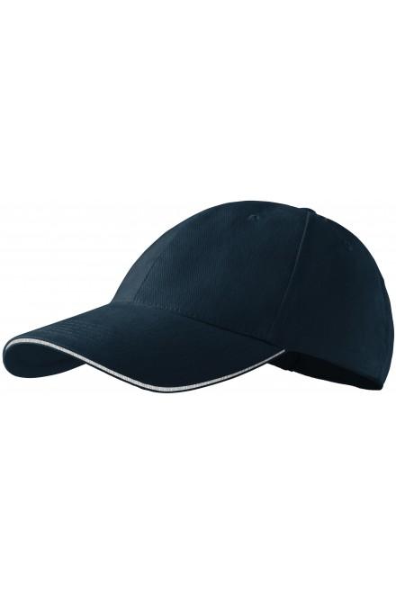 Contrasting cap Navy blue