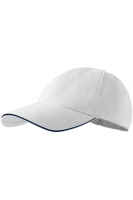 Contrasting cap White