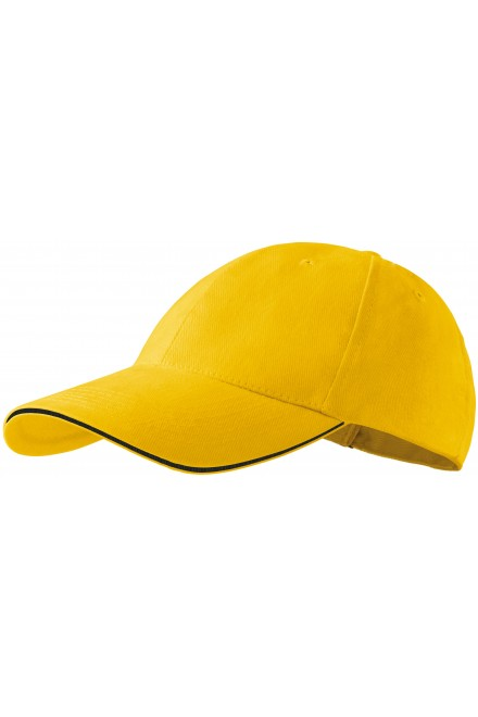 Contrasting cap Yellow