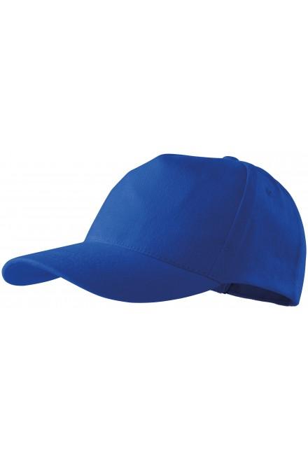 Royal blue 5-panel cap, nastaviteľná