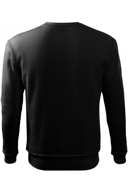 Black men's/childrens sweatshirt with head sleeves, without hood