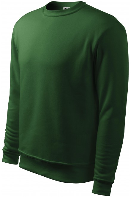Men's/childrens sweatshirt with head sleeves, without hood Bottle green