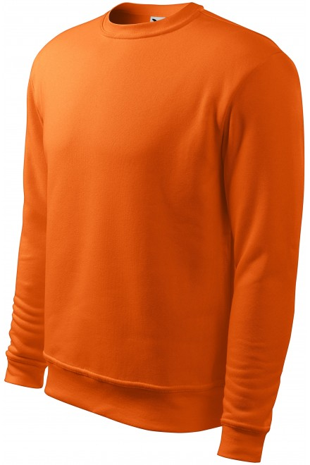 Men's/childrens sweatshirt with head sleeves, without hood Orange