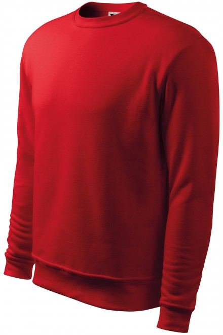 Men's/childrens sweatshirt with head sleeves, without hood Red
