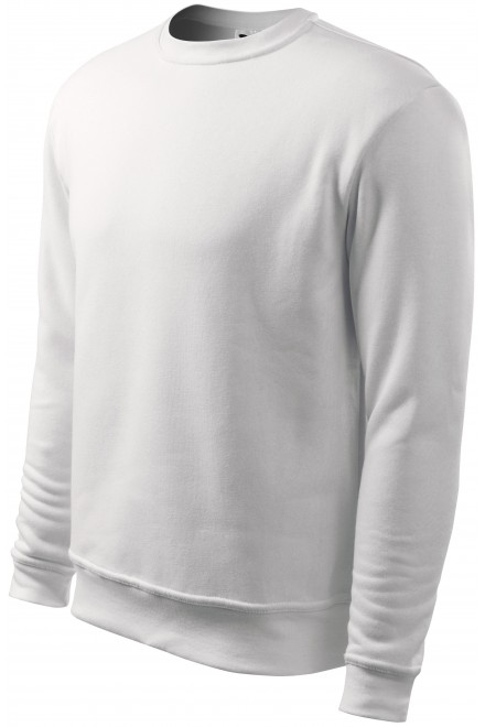 Men's/childrens sweatshirt with head sleeves, without hood White
