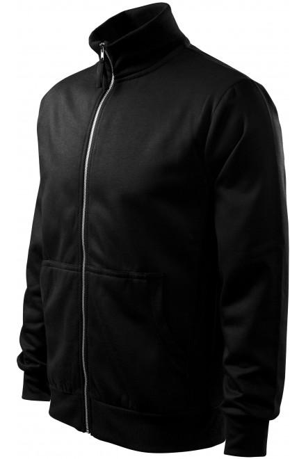 Men's sweatshirt without hood Black