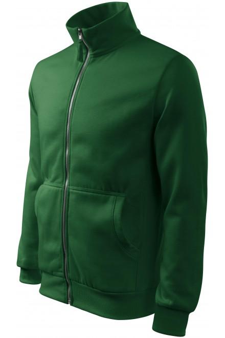 Men's sweatshirt without hood Bottle green