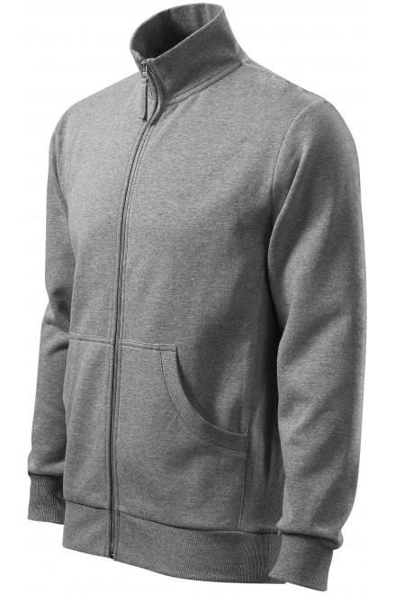 Men's sweatshirt without hood Dark gray melange